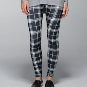 Lululemon Plaid Wunder Under Leggings Size 6